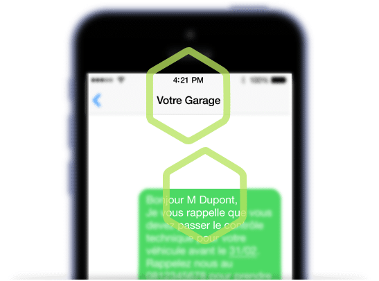 create message bg front