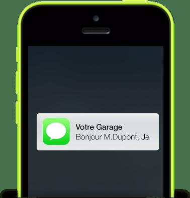 send message bg front