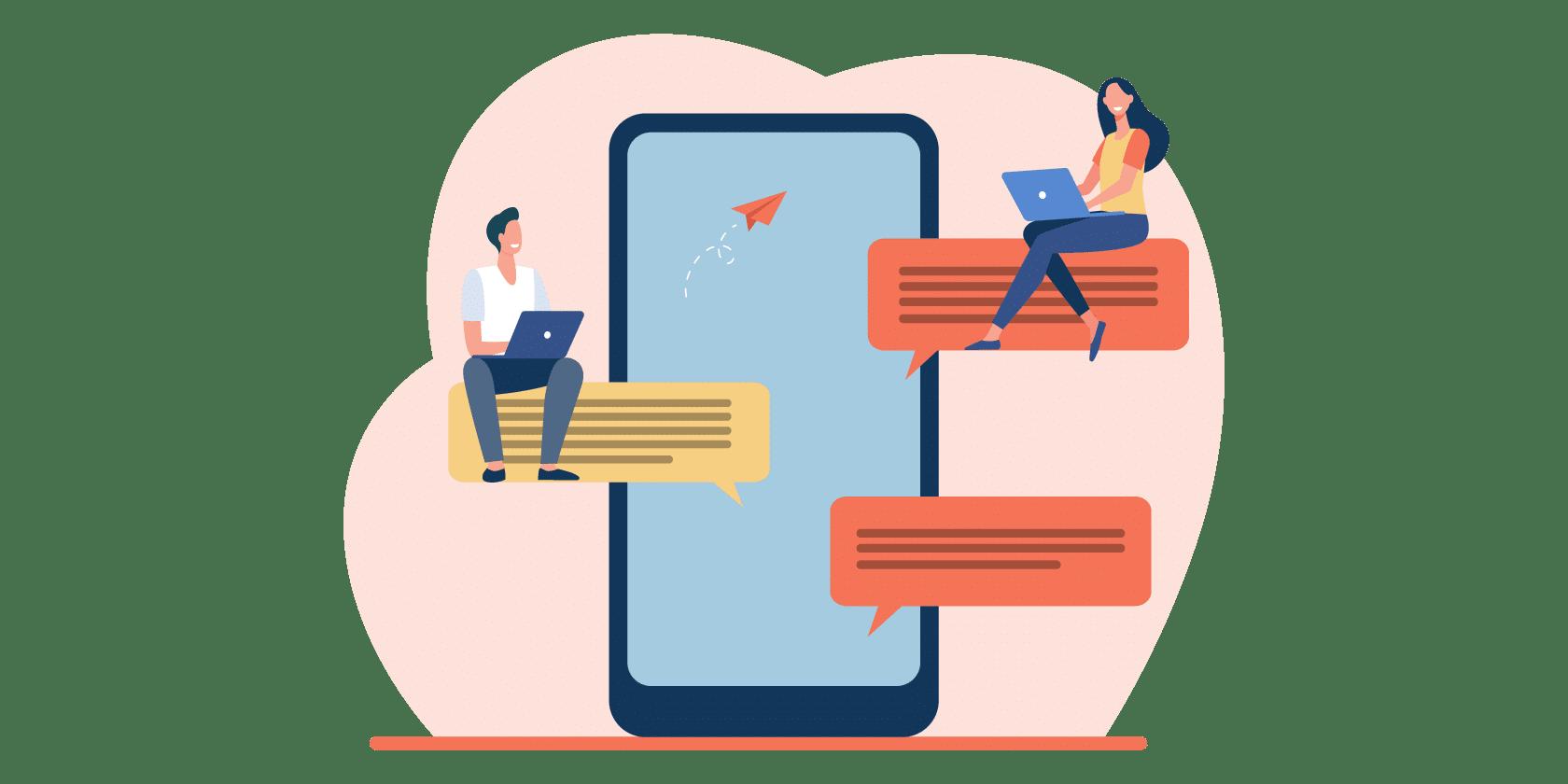 Communication par sms